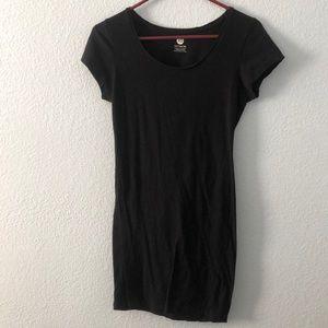 Black mini tshirt dress